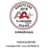 Certifikat Bonitetna odličnost 2018