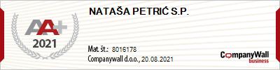 Nataša Petrić s.p. - bonitetna odličnost AA+